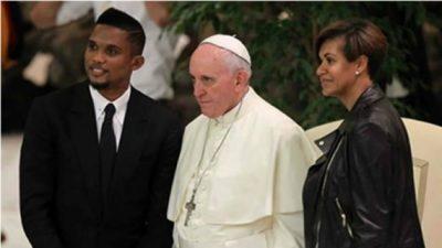 Samuel et Georgette Eto'o se marient devant le Pape François et 200 invités le 15 juin 2016